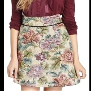 Free People Floral Tapestry Mini Skirt